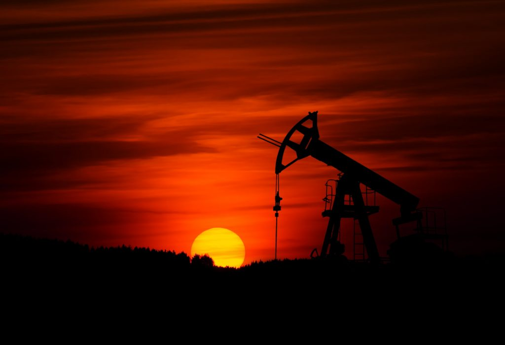 Oil pump at sundown